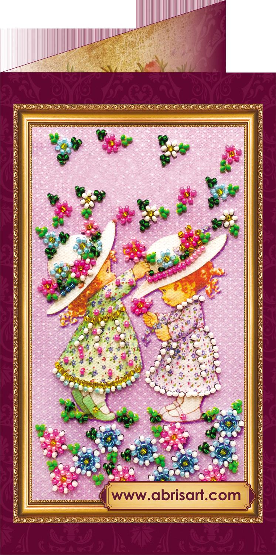 Для, открытка для вышивки бисером с днем рождения