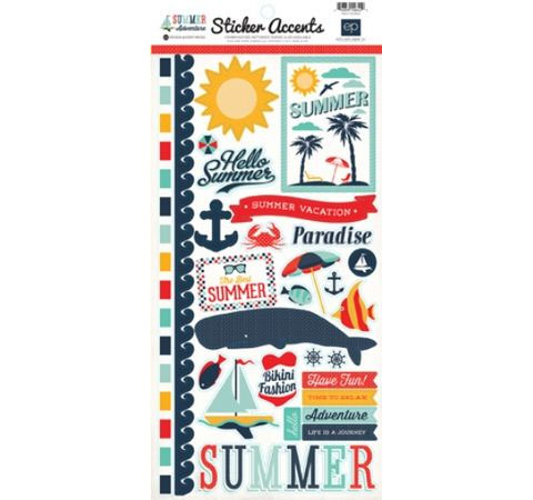 стикеры «summer adventure sticker sheet», 15*33 см